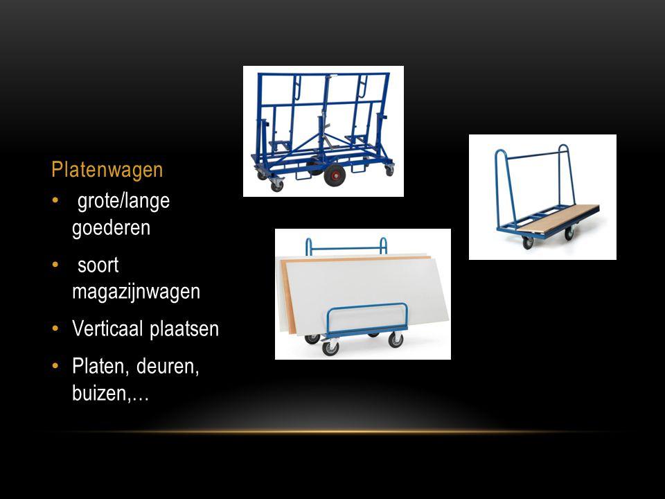Platenwagen grote/lange goederen soort magazijnwagen Verticaal plaatsen Platen, deuren, buizen,…