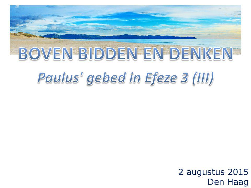 2 augustus 2015 Den Haag