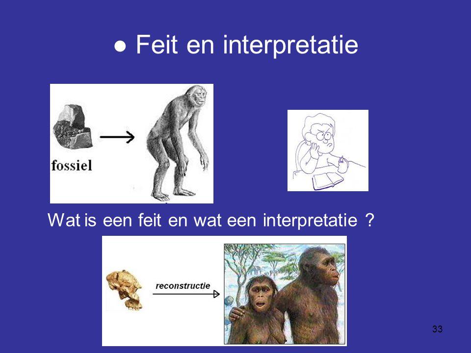 33 ● Feit en interpretatie Wat is een feit en wat een interpretatie ?