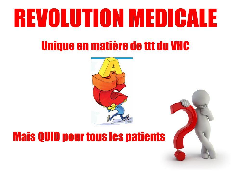 REVOLUTION MEDICALE Unique en matière de ttt du VHC Mais QUID pour tous les patients