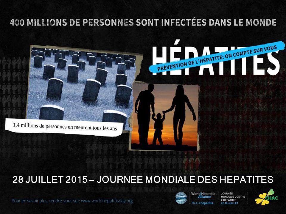 28 JUILLET 2015 – JOURNEE MONDIALE DES HEPATITES