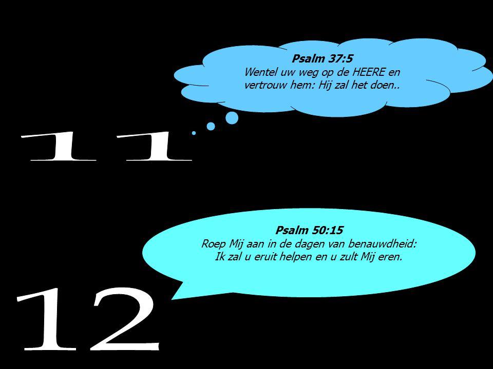 Psalm 37:5 Wentel uw weg op de HEERE en vertrouw hem: Hij zal het doen..