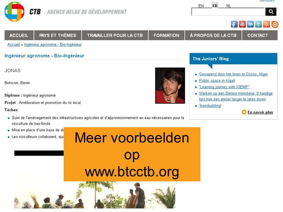 Meer voorbeelden op www.btcctb.org