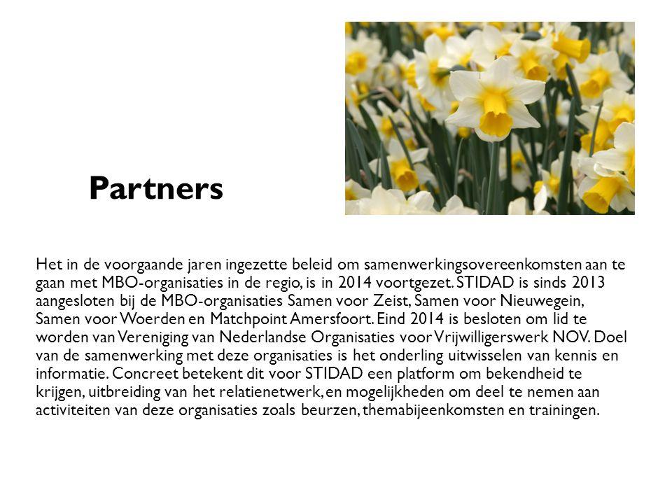 Partners Het in de voorgaande jaren ingezette beleid om samenwerkingsovereenkomsten aan te gaan met MBO-organisaties in de regio, is in 2014 voortgezet.