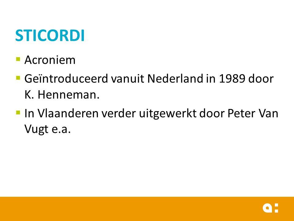  Acroniem  Geïntroduceerd vanuit Nederland in 1989 door K.
