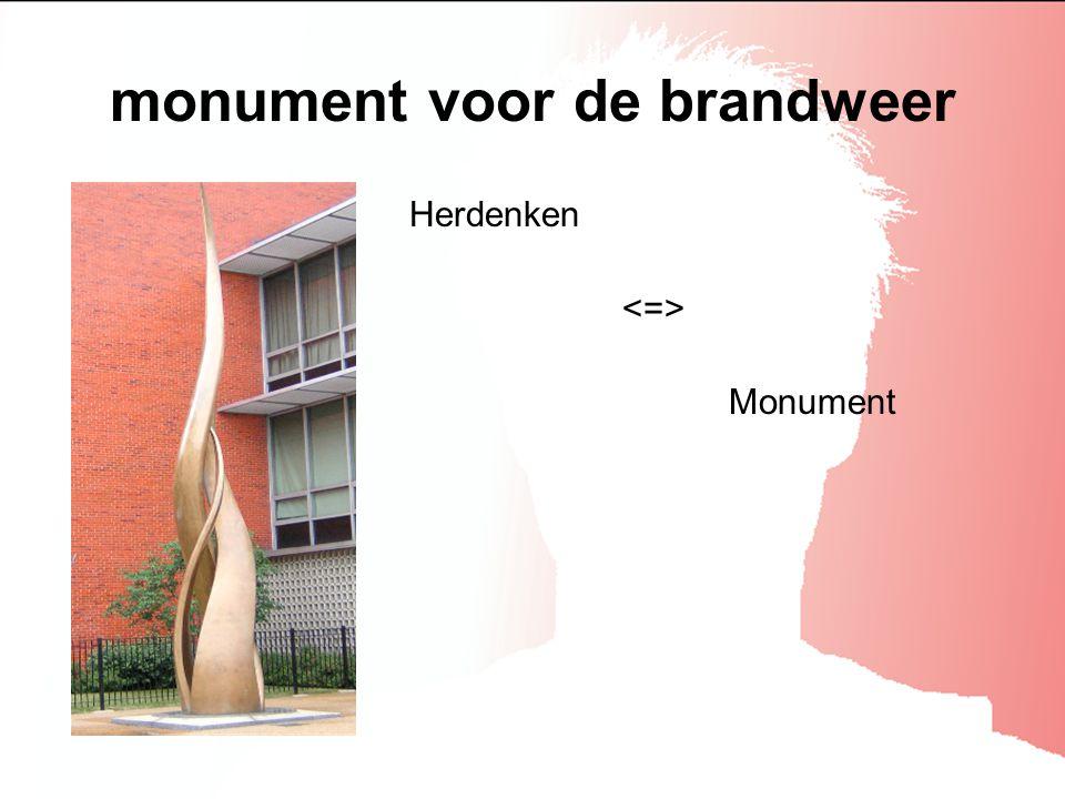 monument voor de brandweer Herdenken Monument