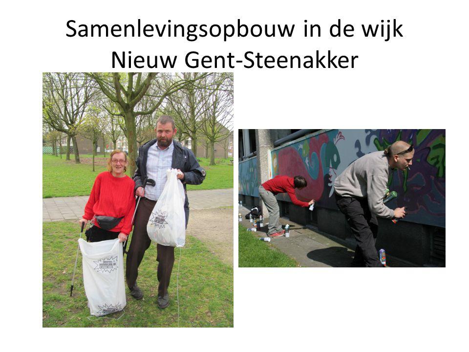Nu Convenant met de Stad Gent:  Dienst Wonen: bewonersparticipatie  Gebiedsgerichte werking: basiswerking (tuintjes)