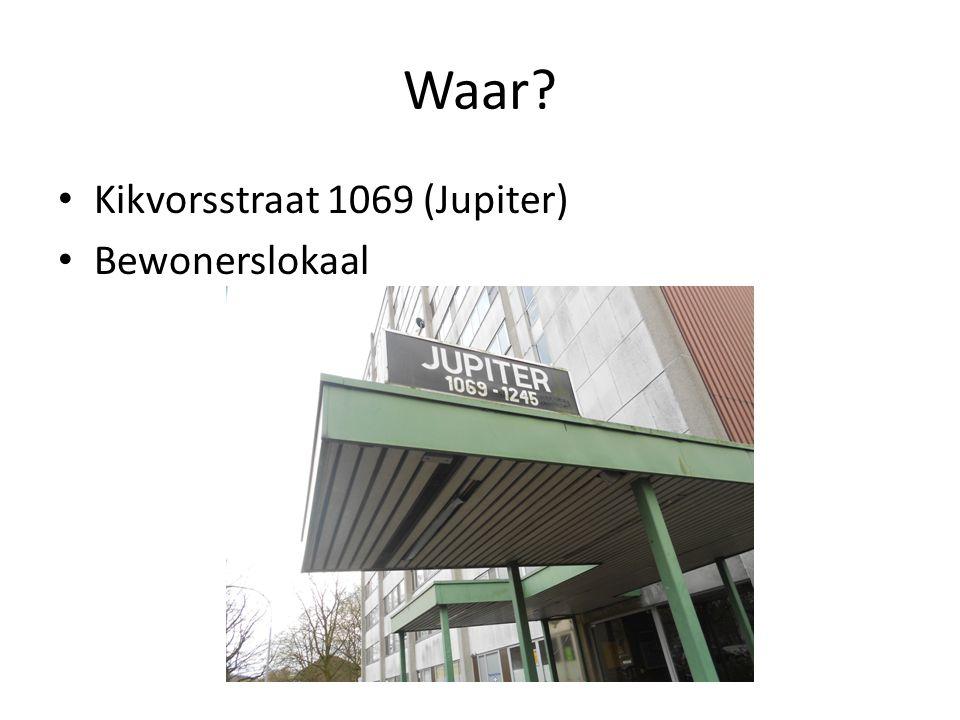Waar? Kikvorsstraat 1069 (Jupiter) Bewonerslokaal