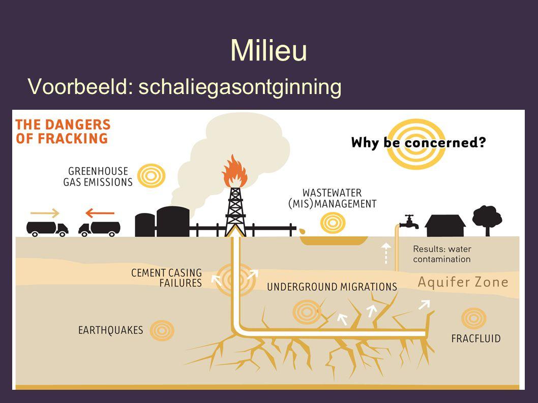Milieu Voorbeeld: schaliegasontginning