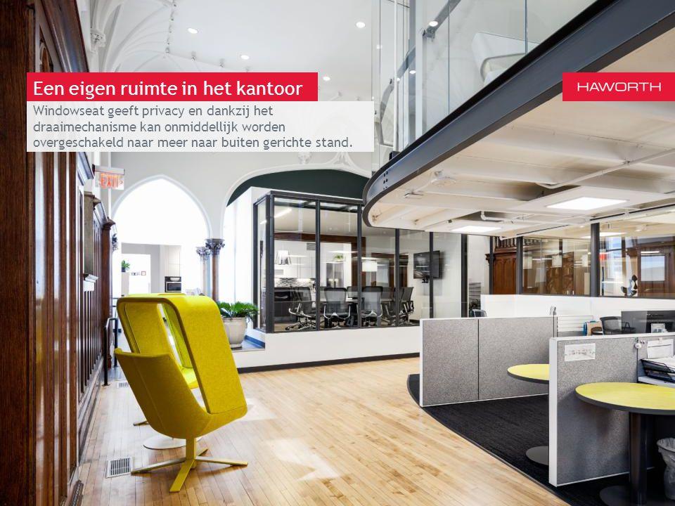 13 maart 2014 | Berlijn Een eigen ruimte in het kantoor Windowseat geeft privacy en dankzij het draaimechanisme kan onmiddellijk worden overgeschakeld