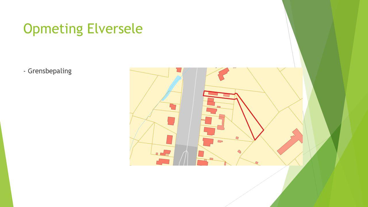Opmeting Elversele - Grensbepaling