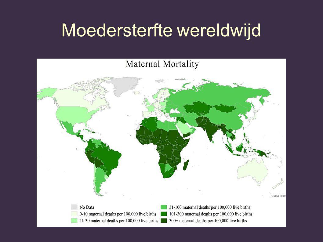 Moedersterfte wereldwijd