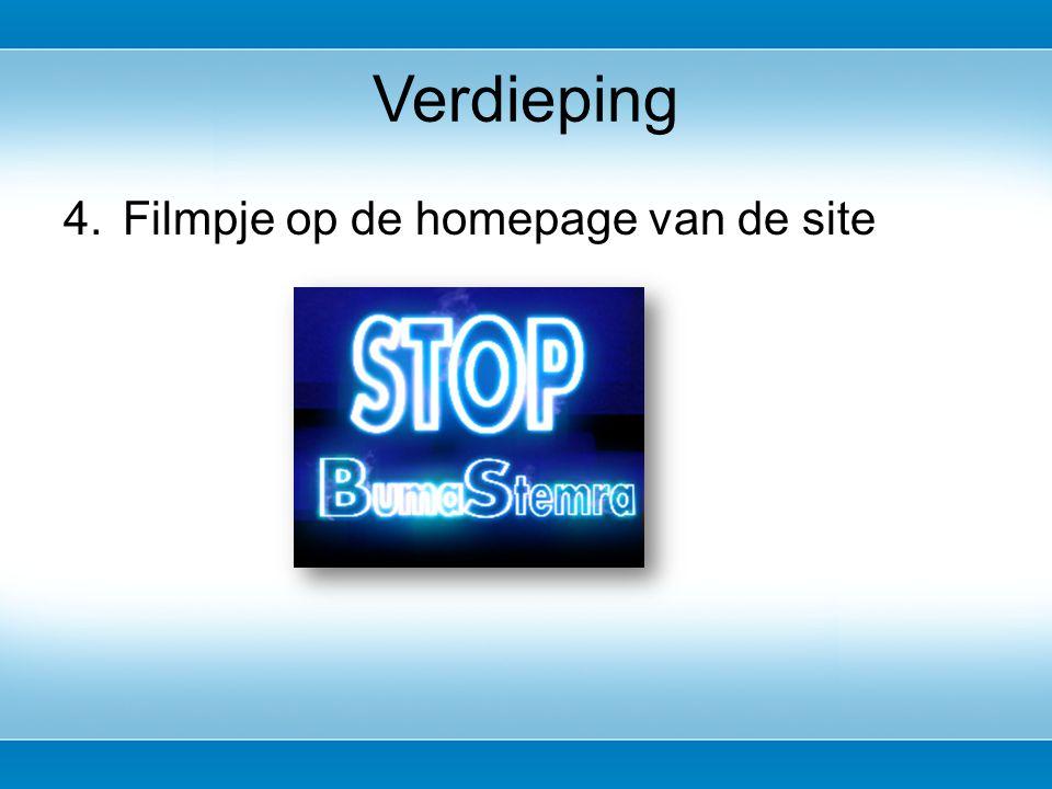 4.Filmpje op de homepage van de site Verdieping