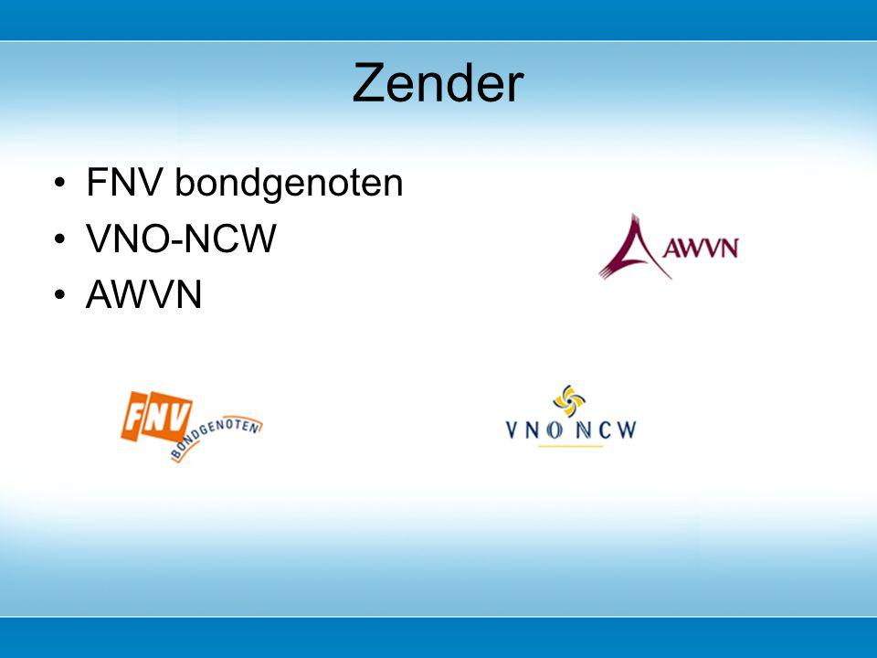 FNV bondgenoten VNO-NCW AWVN Zender