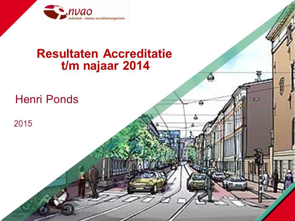 2015 Henri Ponds Resultaten Accreditatie t/m najaar 2014