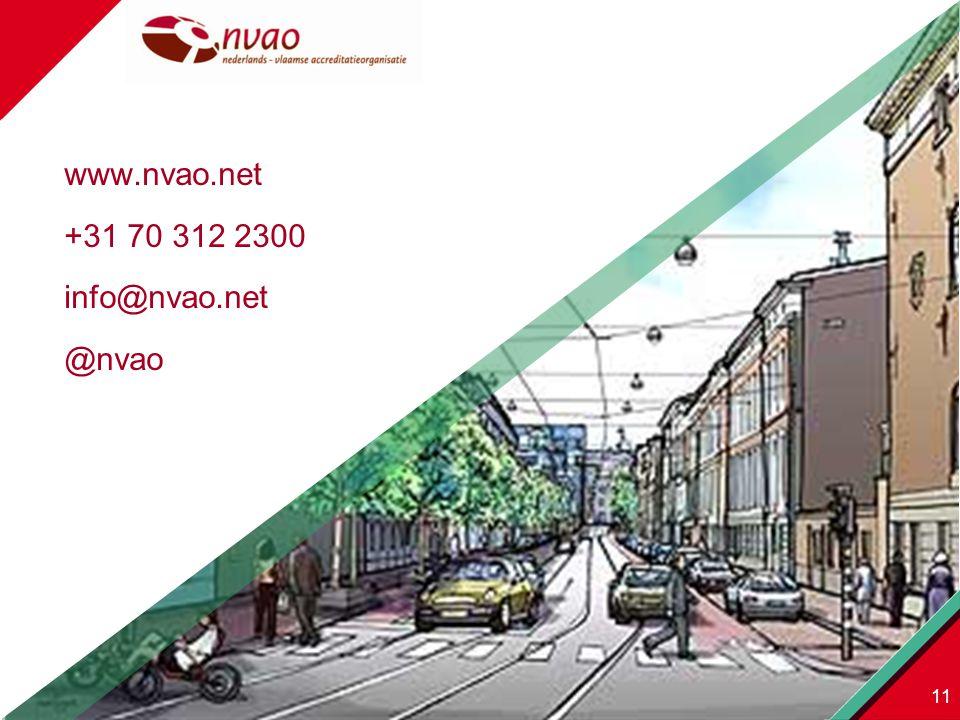 www.nvao.net +31 70 312 2300 info@nvao.net @nvao 11