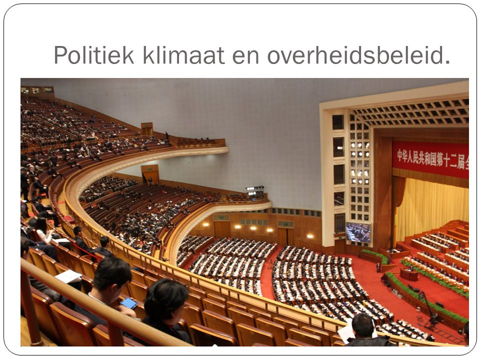 Politiek klimaat en overheidsbeleid.
