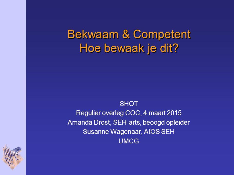 Curriculum SEH-arts 18 Thema's 7 Competenties 3 Beheersingsniveaus – 1.