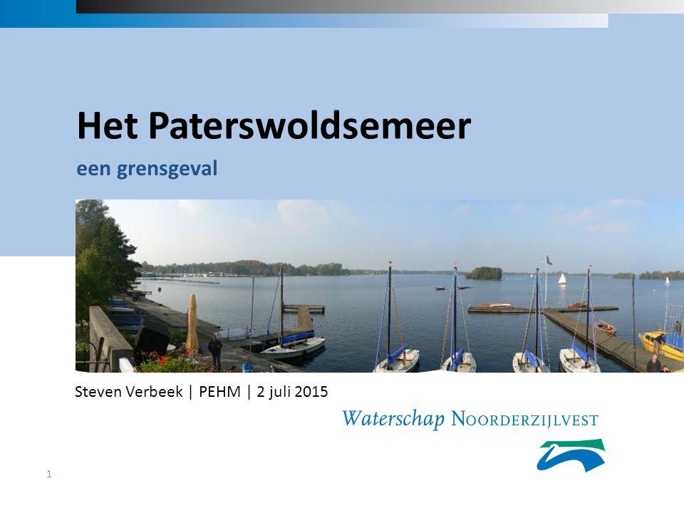 Het Paterswoldsemeer een grensgeval 1 Steven Verbeek | PEHM | 2 juli 2015