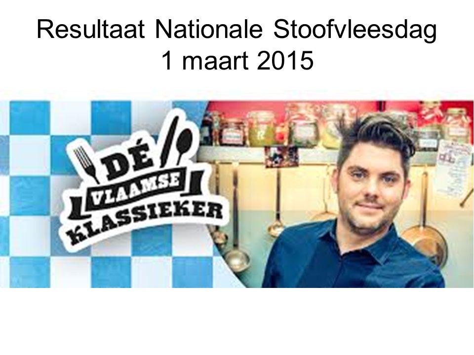 Resultaat Nationale Stoofvleesdag 1 maart 2015