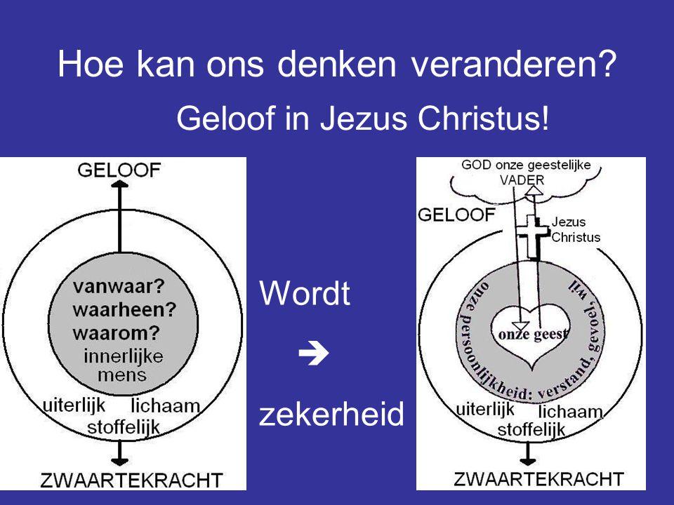 27 Hoe kan ons denken veranderen? Geloof in Jezus Christus! Wordt  zekerheid