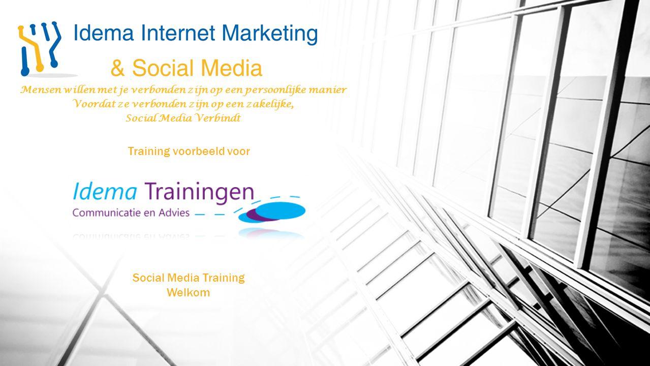 Mensen willen met je verbonden zijn op een persoonlijke manier Voordat ze verbonden zijn op een zakelijke, Social Media Verbindt Training voorbeeld vo