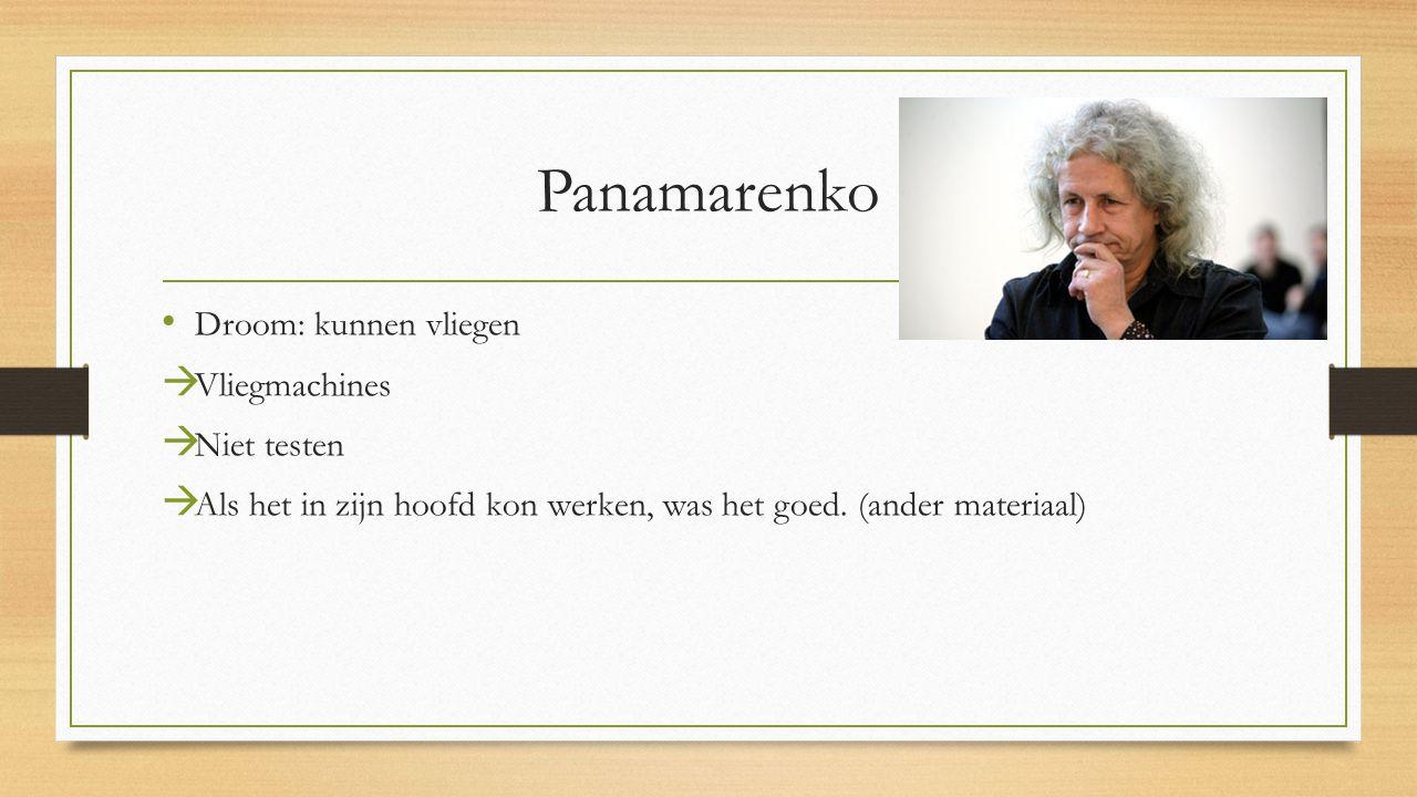 Panamarenko Droom: kunnen vliegen  Vliegmachines  Niet testen  Als het in zijn hoofd kon werken, was het goed.