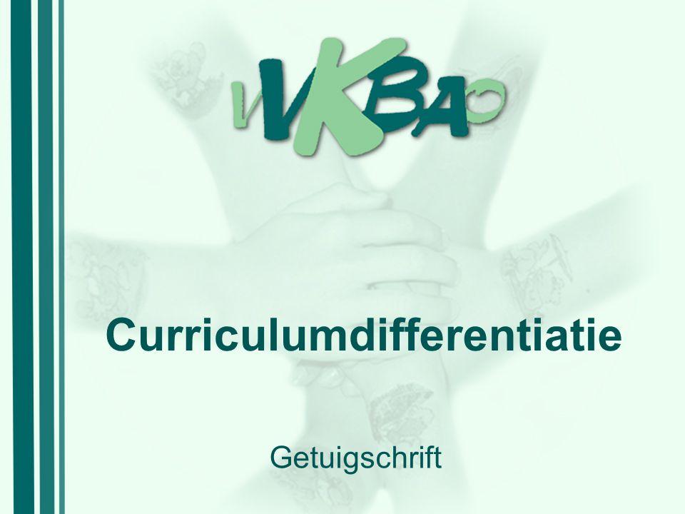 Curriculumdifferentiatie Getuigschrift