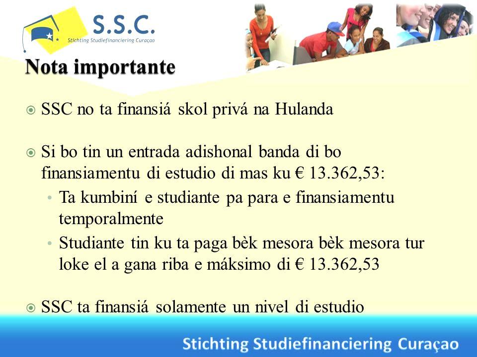 SSC no ta finansiá skol privá na Hulanda Si bo tin un entrada adishonal banda di bo finansiamentu di estudio di mas ku 13.362,53: Ta kumbiní e studian