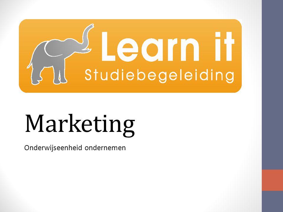 Marketing Onderwijseenheid ondernemen