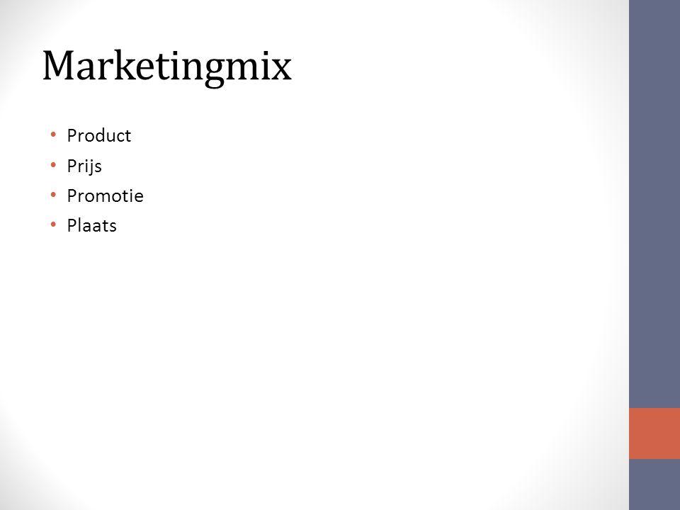 Marketingmix Product Prijs Promotie Plaats