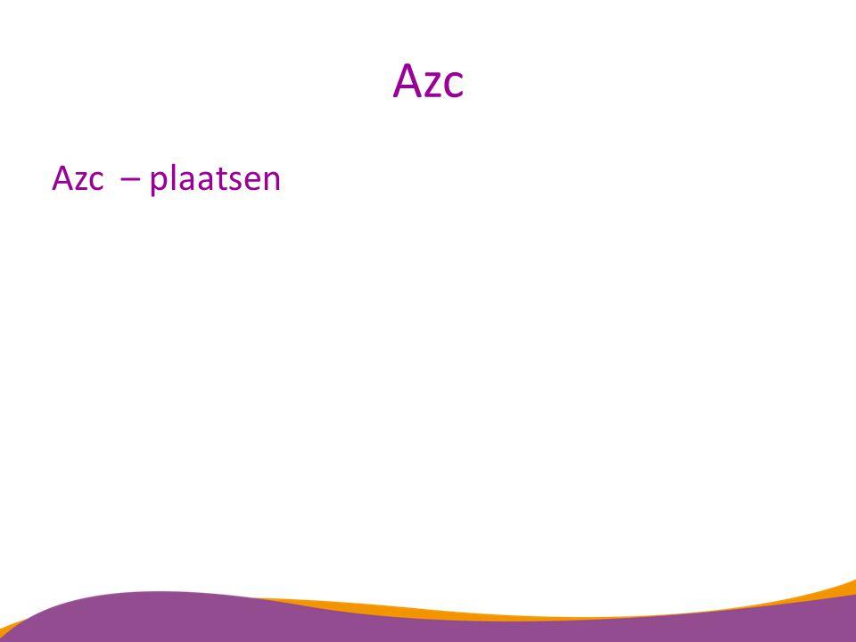Azc Azc – plaatsen