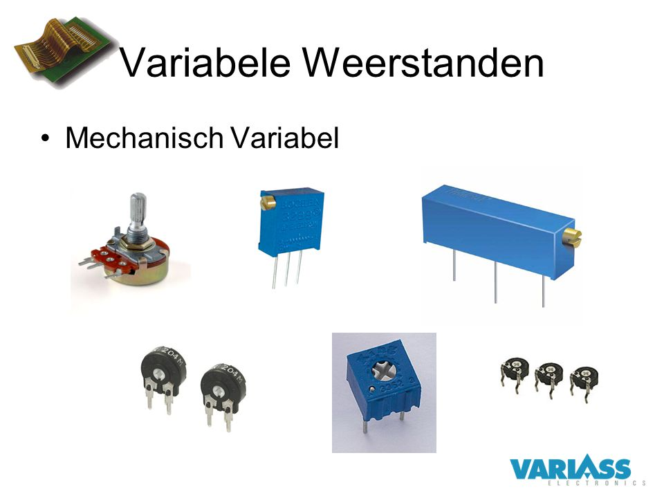 Variabele Weerstanden Mechanisch Variabel