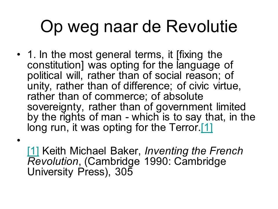Op weg naar de Revolutie 1.