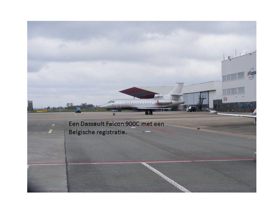 Een Dassault Falcon 900C met een Belgische registratie.
