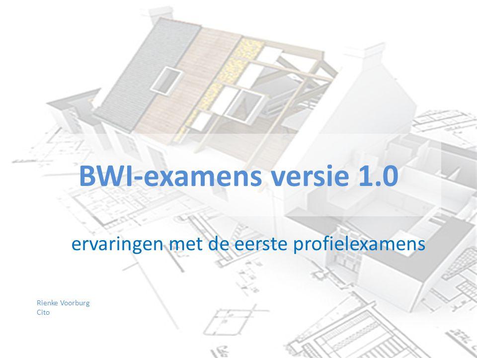 BWI-examens versie 1.0 Rienke Voorburg Cito ervaringen met de eerste profielexamens