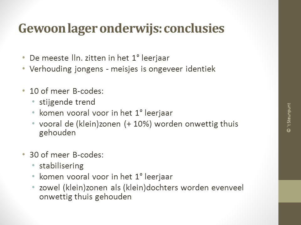 Gewoon lager onderwijs: conclusies De meeste lln.