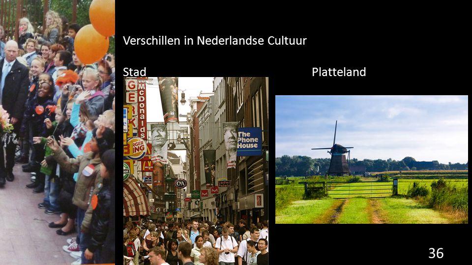 Verschillen in Nederlandse Cultuur StadPlatteland 36