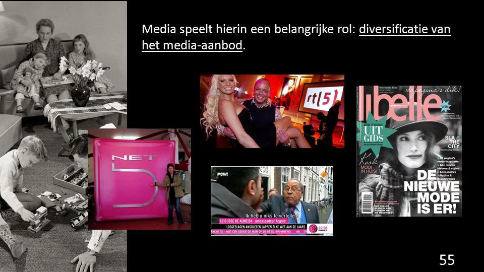 Media speelt hierin een belangrijke rol: diversificatie van het media-aanbod. 55