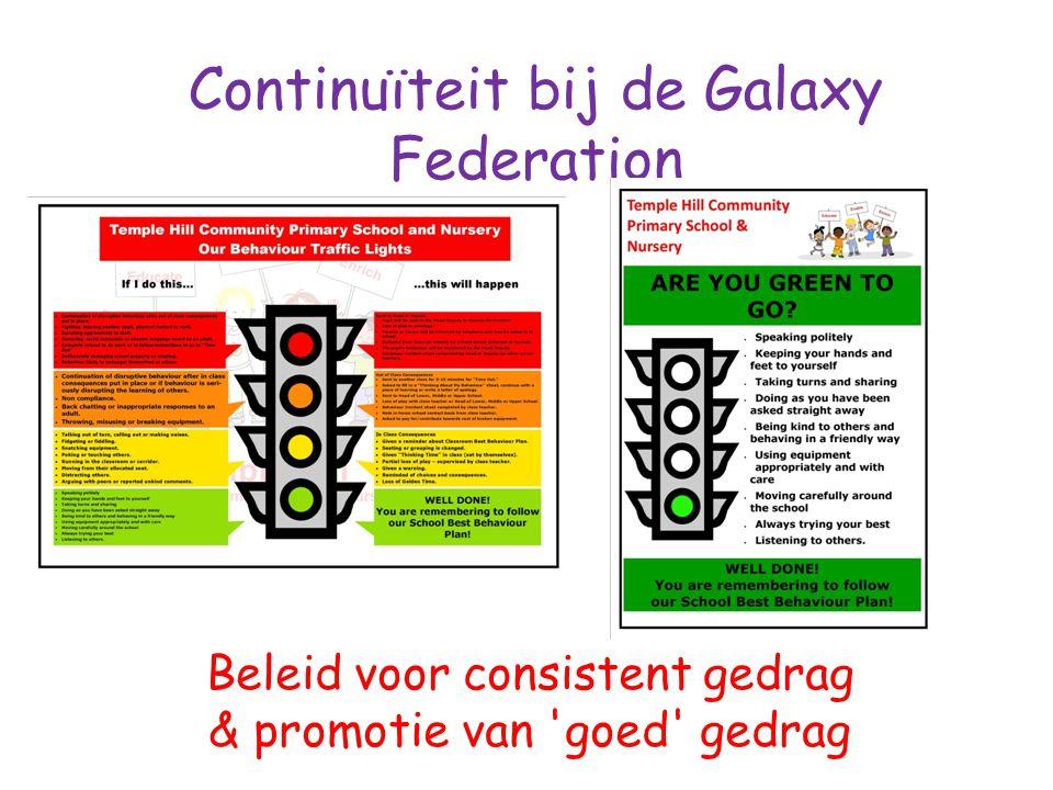Continuïteit bij de Galaxy Federation Beleid voor consistent gedrag & promotie van goed gedrag