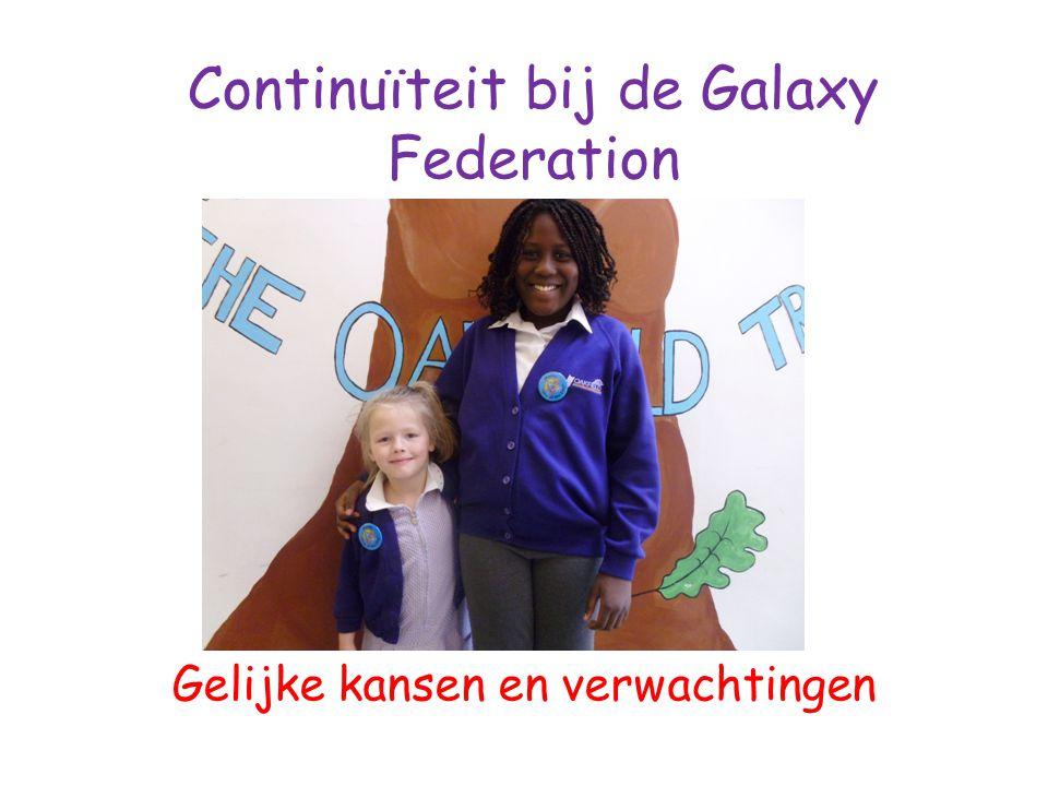 Continuïteit bij de Galaxy Federation Gelijke kansen en verwachtingen SCHOOL- REIZEN DAGELIJKSE LEESUURTJES UUR- ROOSTERS L.O.