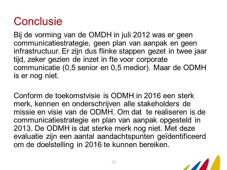 Bij de vorming van de OMDH in juli 2012 was er geen communicatiestrategie, geen plan van aanpak en geen infrastructuur.
