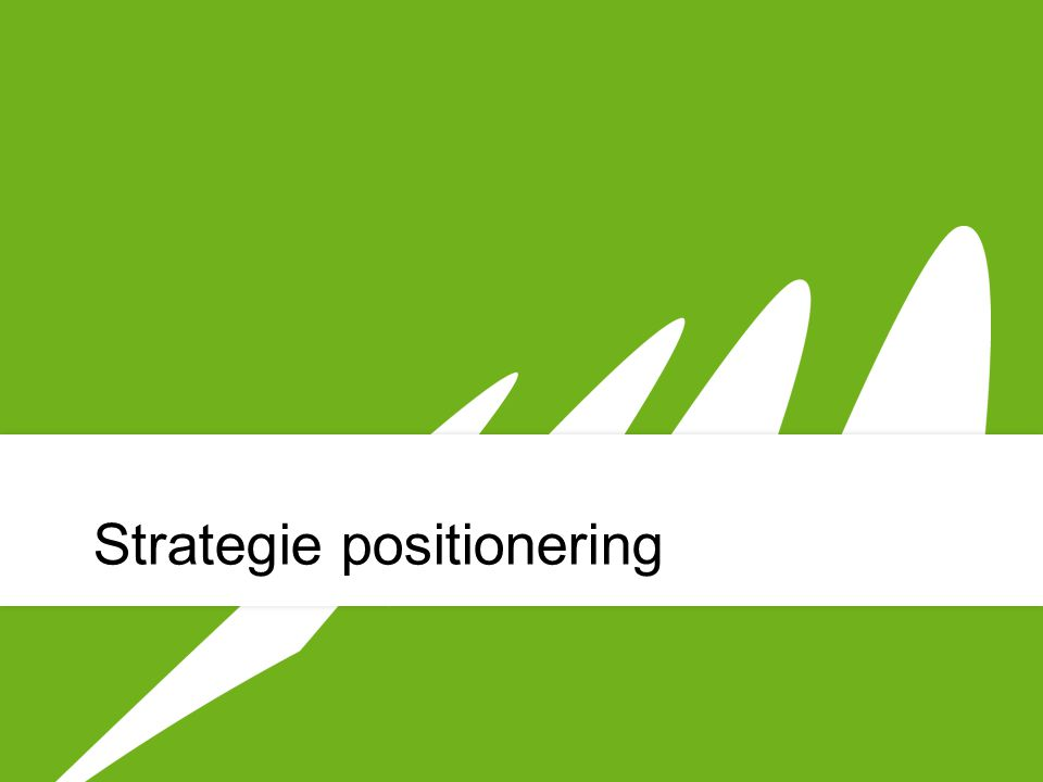 Strategie positionering