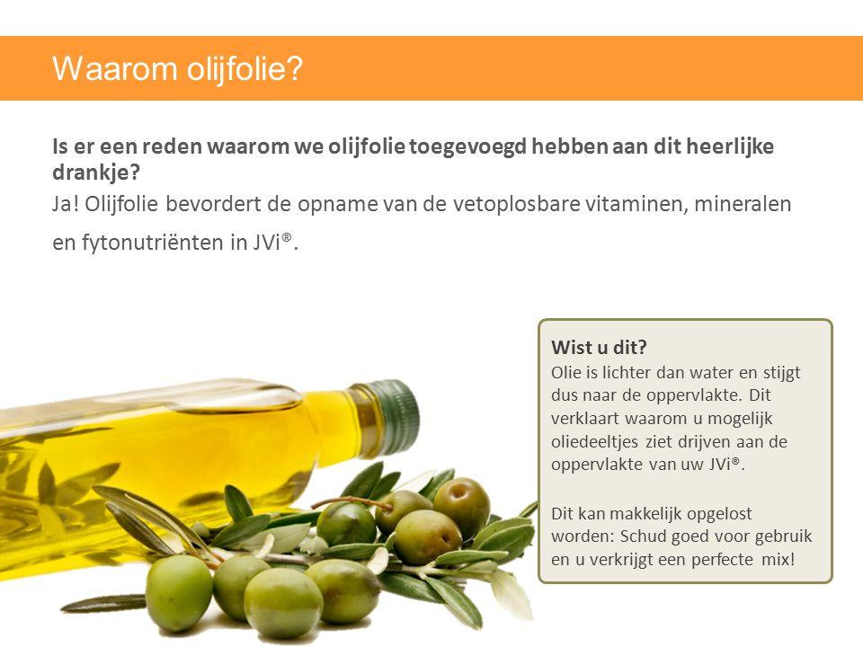 Waarom olijfolie? Is er een reden waarom we olijfolie toegevoegd hebben aan dit heerlijke drankje? Ja! Olijfolie bevordert de opname van de vetoplosba