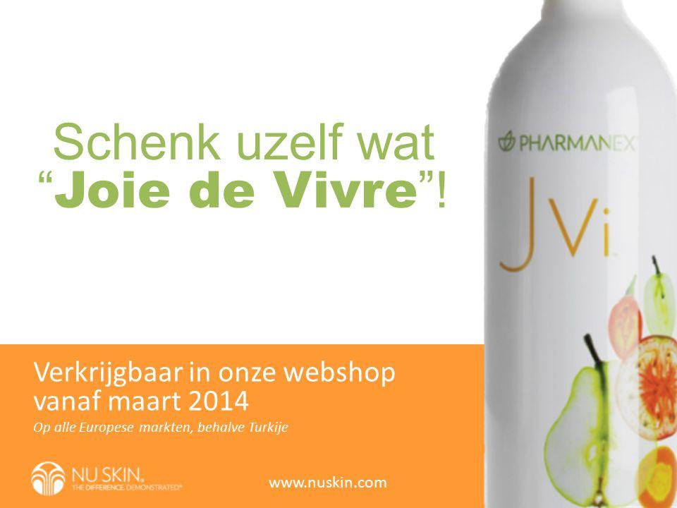 """Schenk uzelf wat """" Joie de Vivre """"! Op alle Europese markten, behalve Turkije Verkrijgbaar in onze webshop vanaf maart 2014 www.nuskin.com"""