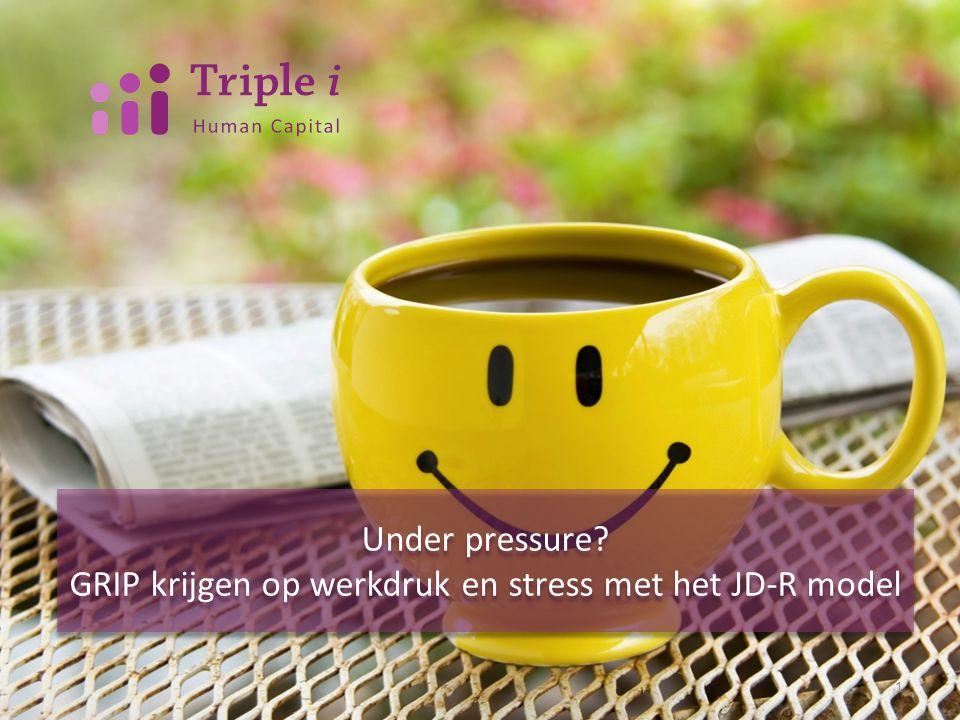 Under pressure? GRIP krijgen op werkdruk en stress met het JD-R model Under pressure? GRIP krijgen op werkdruk en stress met het JD-R model 1