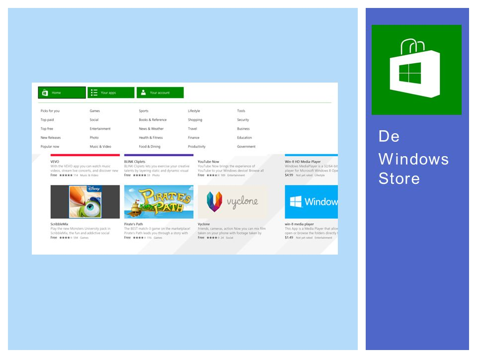 De Windows Store