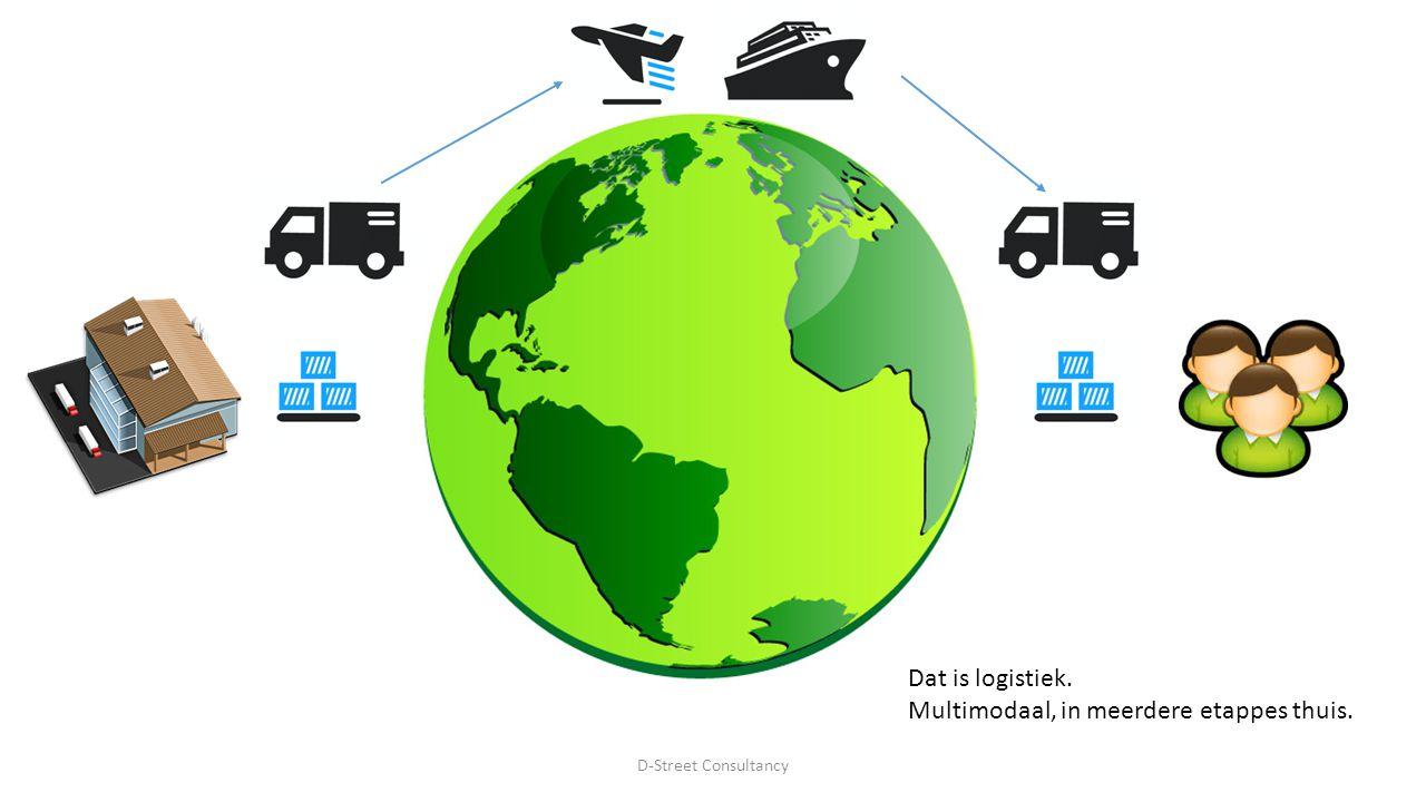 Dat is logistiek. Multimodaal, in meerdere etappes thuis. D-Street Consultancy
