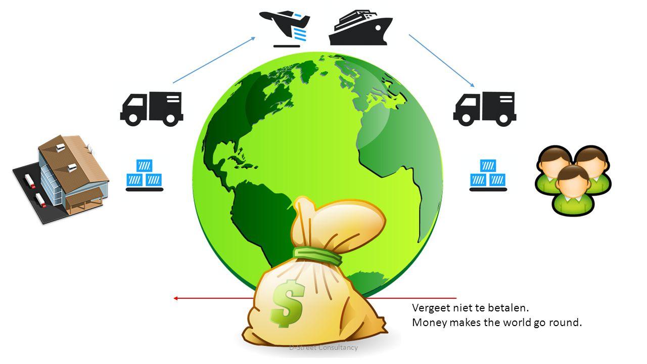 Vergeet niet te betalen. Money makes the world go round. D-Street Consultancy