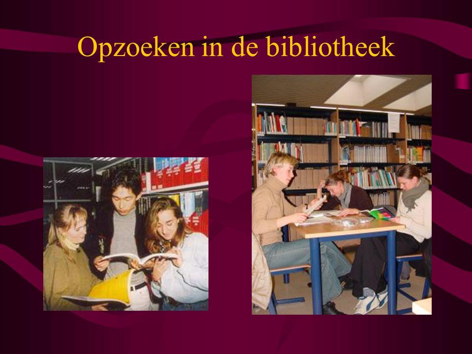 Opzoeken in de bibliotheek